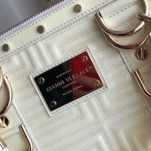 Versace bag. Ivory color. Medium size. Almost brand new.